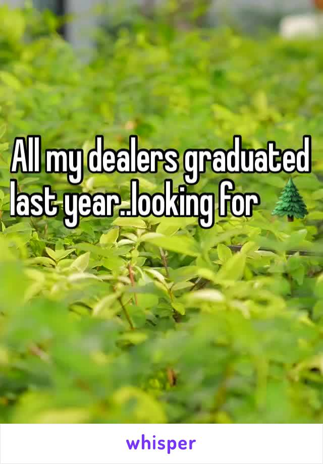 All my dealers graduated last year..looking for 🌲