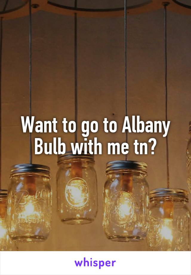 Want to go to Albany Bulb with me tn?