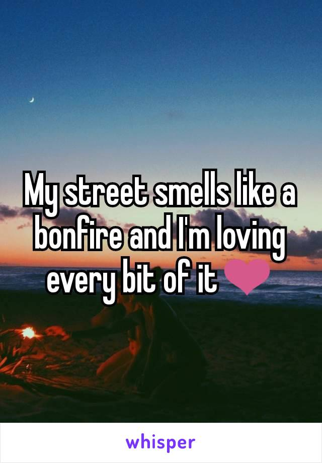 My street smells like a bonfire and I'm loving every bit of it❤