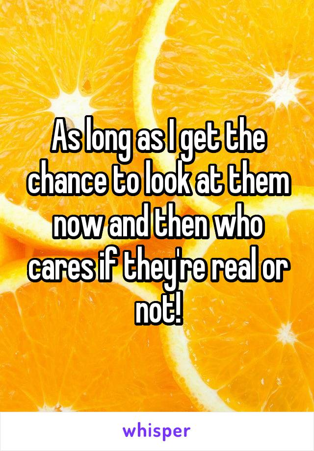 As long as I get the chance to look at them now and then who cares if they're real or not!