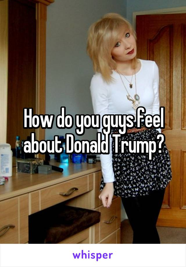 How do you guys feel about Donald Trump?