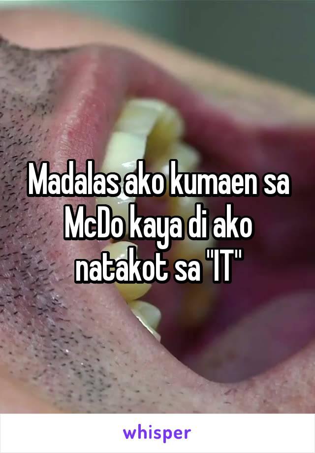 """Madalas ako kumaen sa McDo kaya di ako natakot sa """"IT"""""""