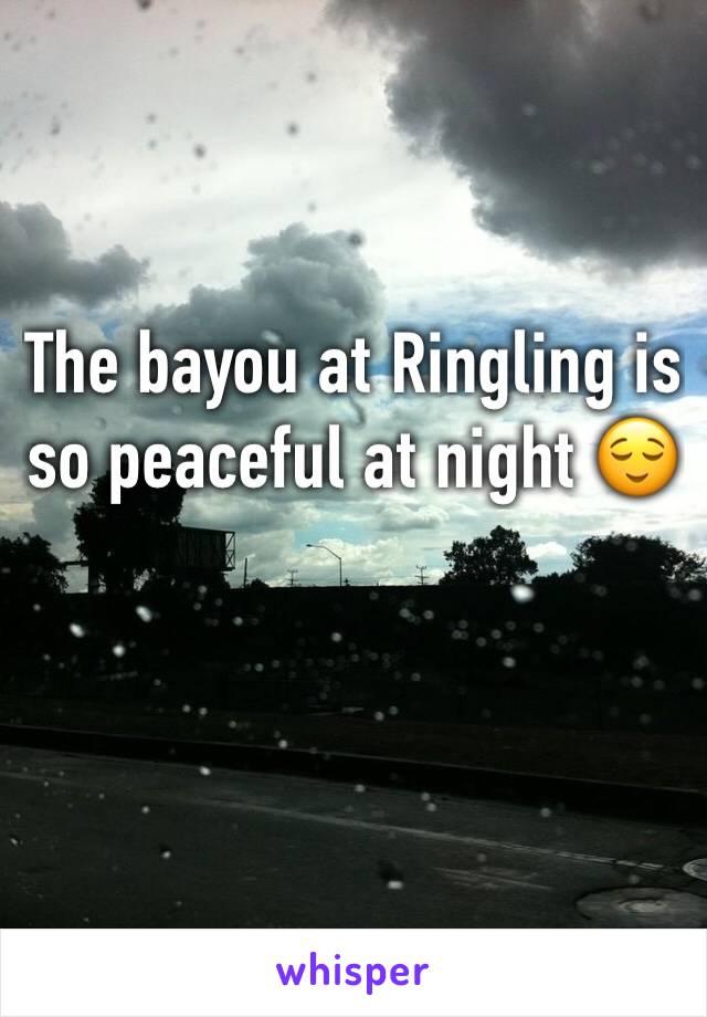 The bayou at Ringling is so peaceful at night 😌