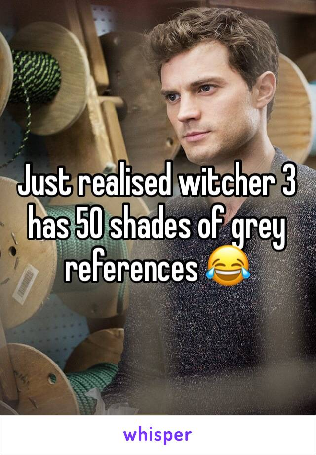 Just realised witcher 3 has 50 shades of grey references 😂