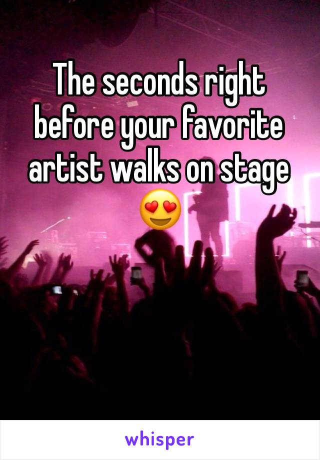 The seconds right before your favorite artist walks on stage 😍