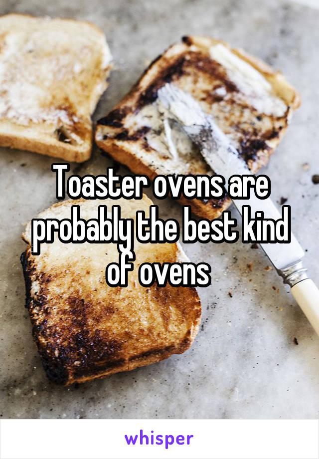 Toaster ovens are probably the best kind of ovens
