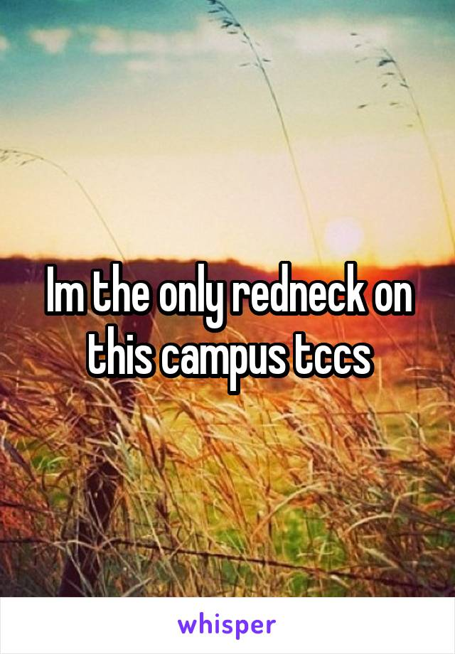 Im the only redneck on this campus tccs