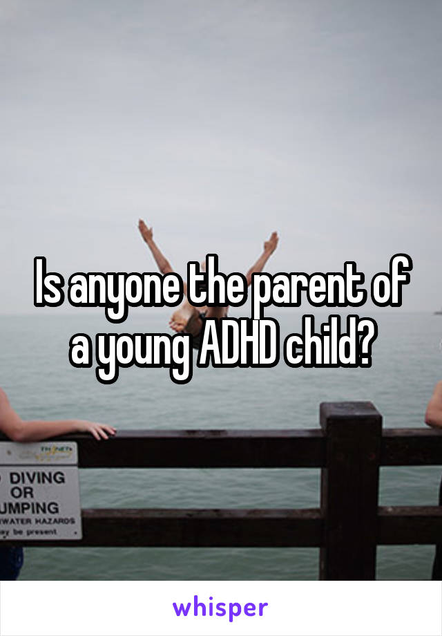 Is anyone the parent of a young ADHD child?