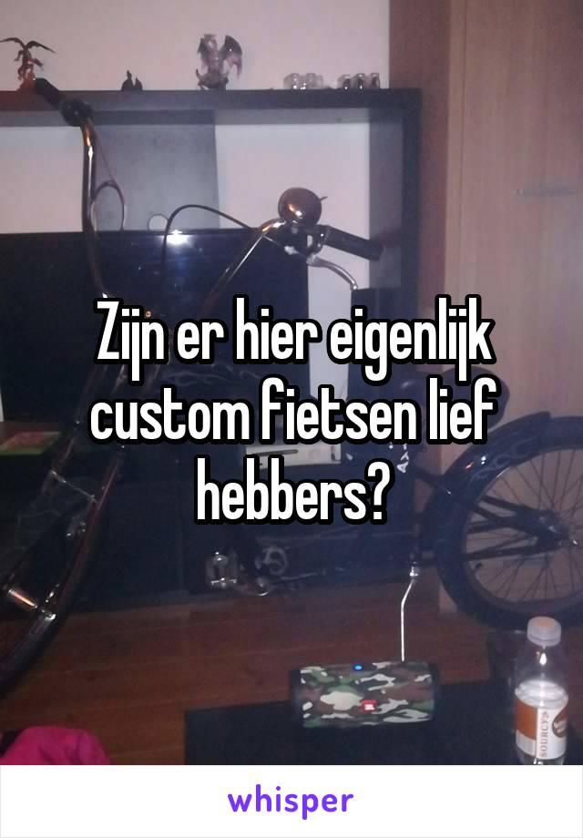 Zijn er hier eigenlijk custom fietsen lief hebbers?
