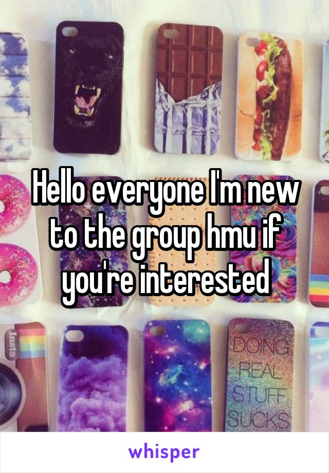Hello everyone I'm new to the group hmu if you're interested