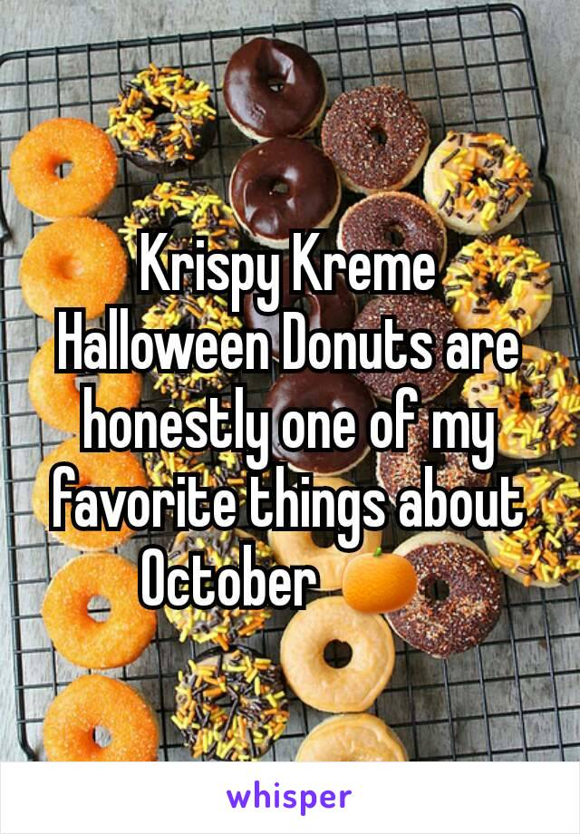 Krispy Kreme Halloween Donuts are honestly one of my favorite things about October 🍊