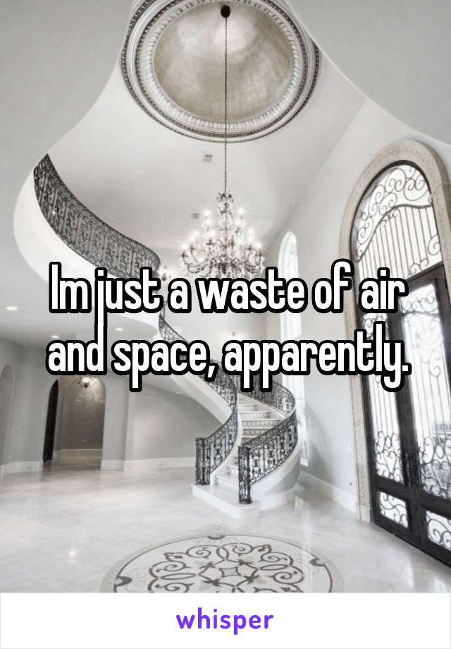 Im just a waste of air and space, apparently.