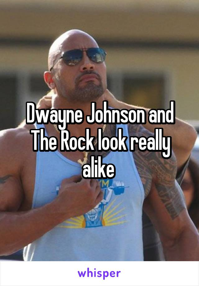 Dwayne Johnson and The Rock look really alike