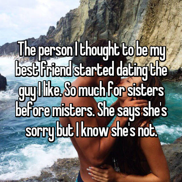 My friend is dating a guy i like