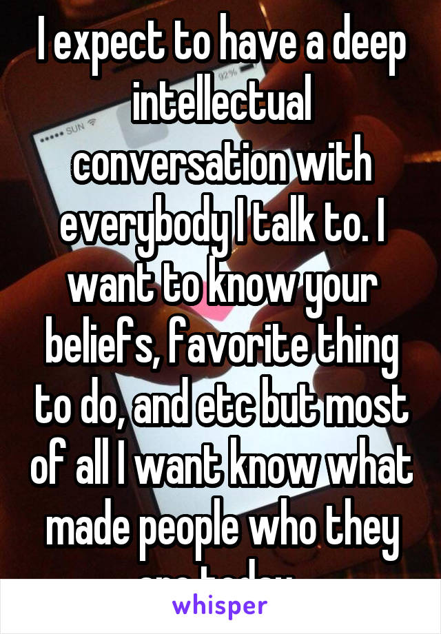 How to have a intellectual conversation