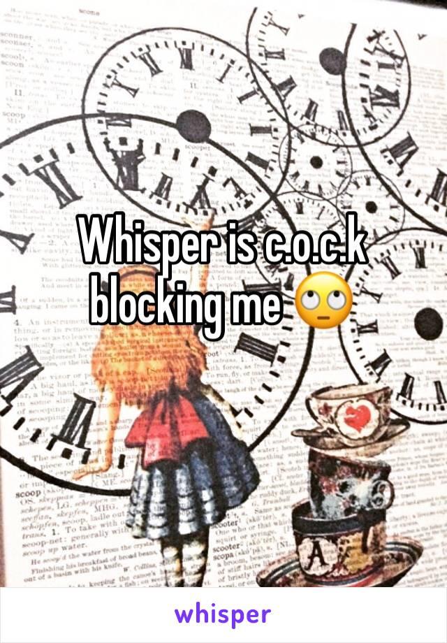 Whisper is c.o.c.k blocking me 🙄