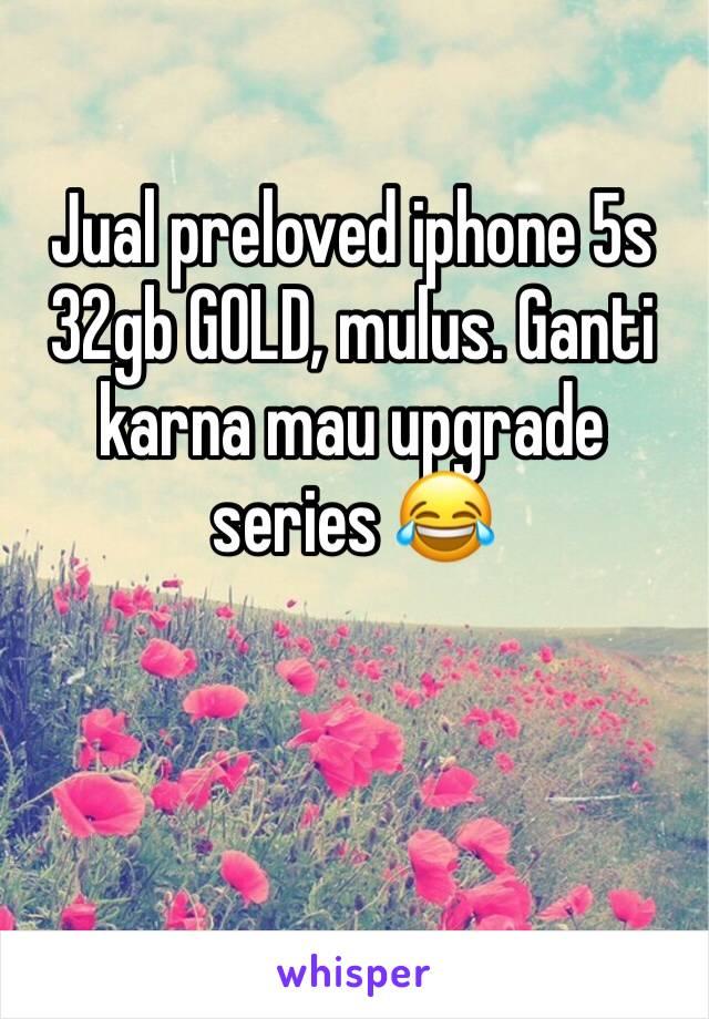 Jual preloved iphone 5s 32gb GOLD, mulus. Ganti karna mau upgrade series 😂