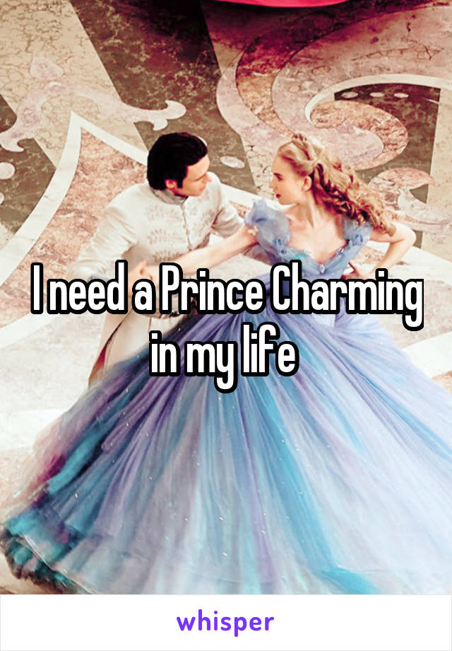 I need a Prince Charming in my life