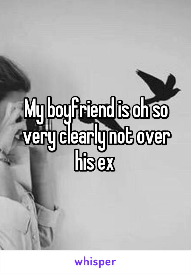 My boyfriend is oh so very clearly not over his ex