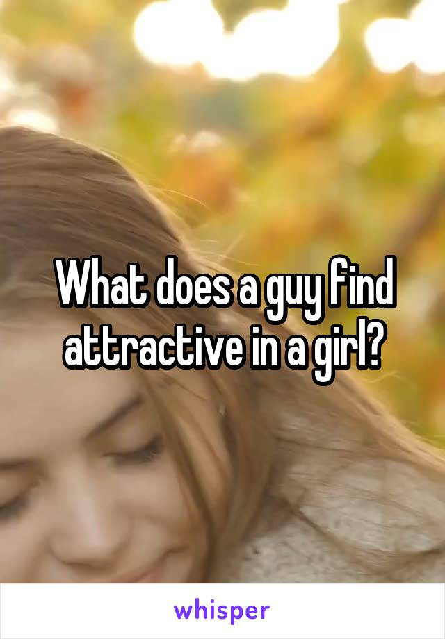 What does a guy find attractive in a girl?