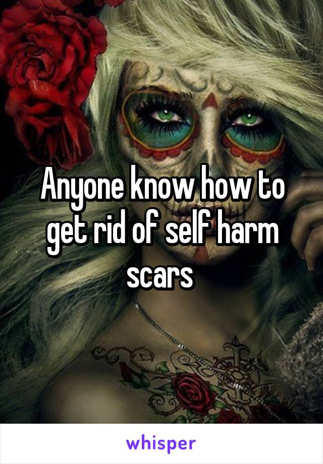 Anyone know how to get rid of self harm scars