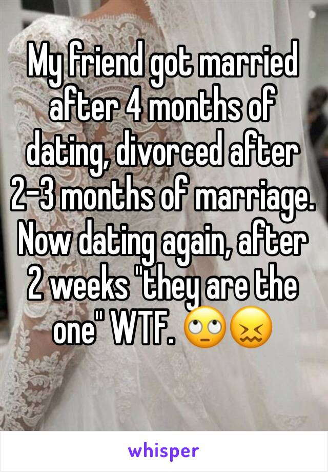 Marriage after four months of dating