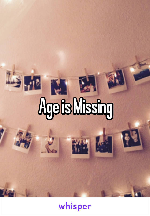 Age is Missing
