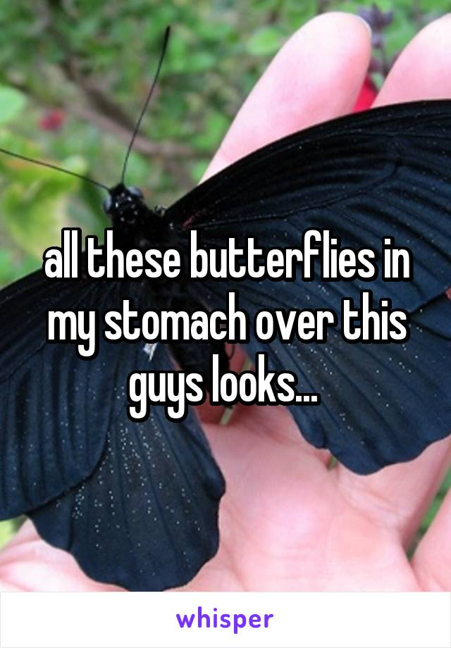 all these butterflies in my stomach over this guys looks...