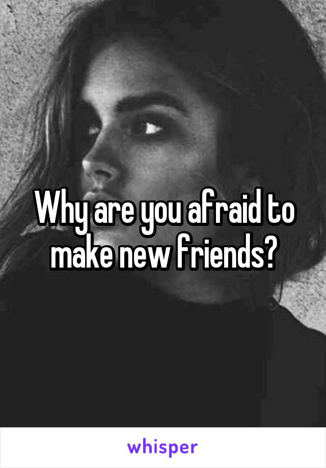 Why are you afraid to make new friends?