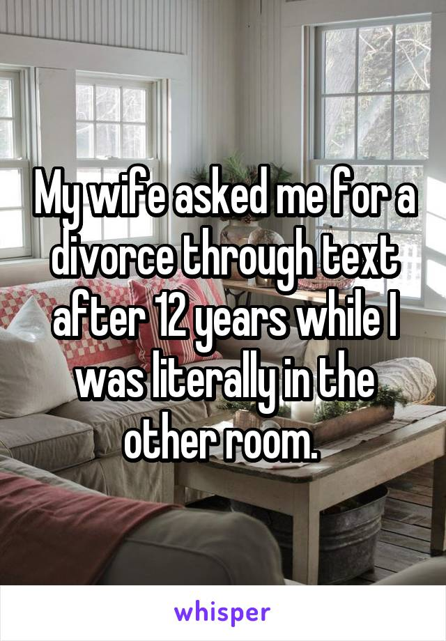 These Are The Text Messages That Ended A Long Marriage