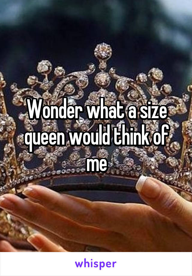 Wonder what a size queen would think of me