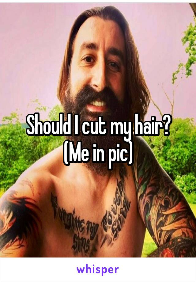 Should I cut my hair? (Me in pic)