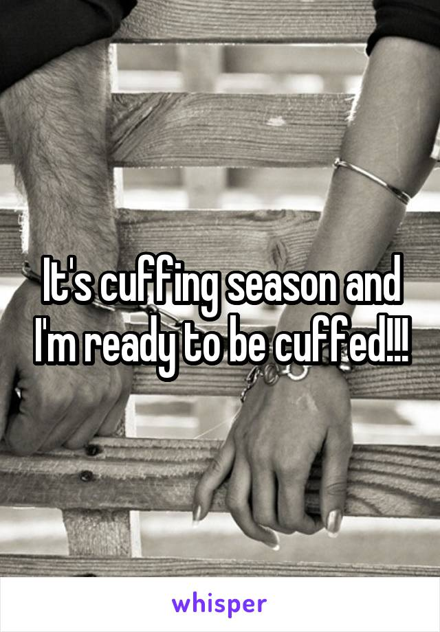It's cuffing season and I'm ready to be cuffed!!!