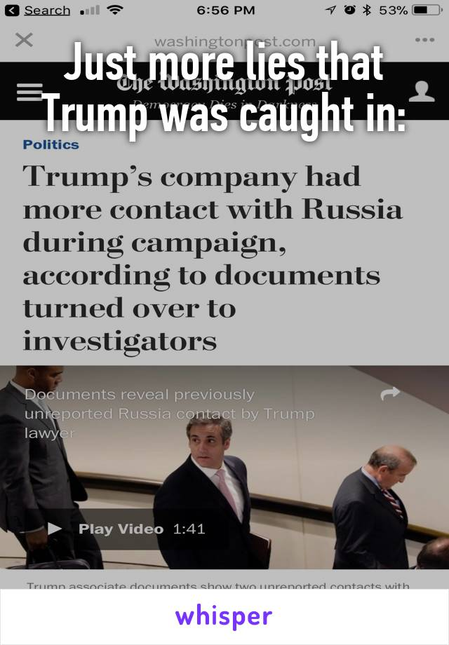 Just more lies that Trump was caught in: