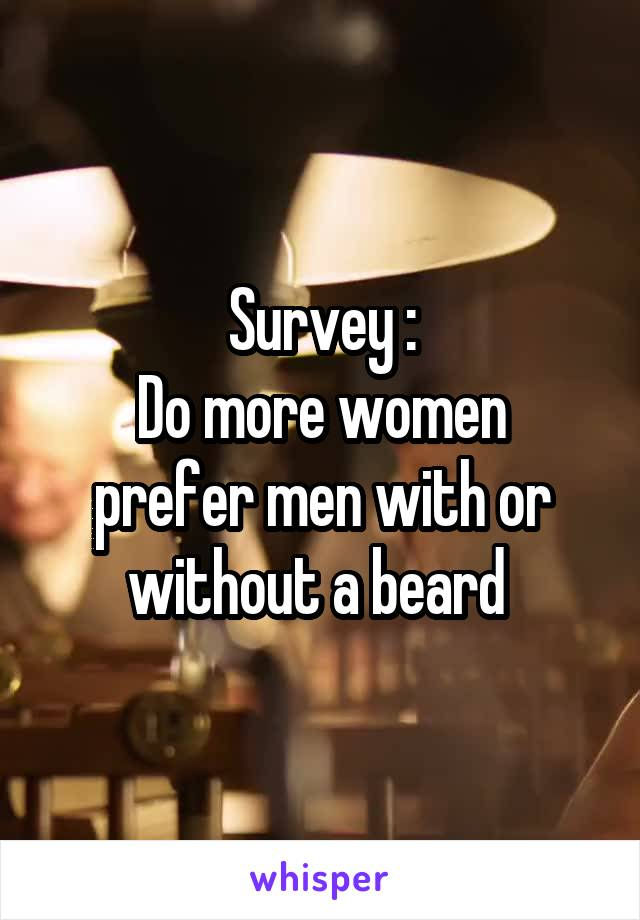 Survey : Do more women prefer men with or without a beard
