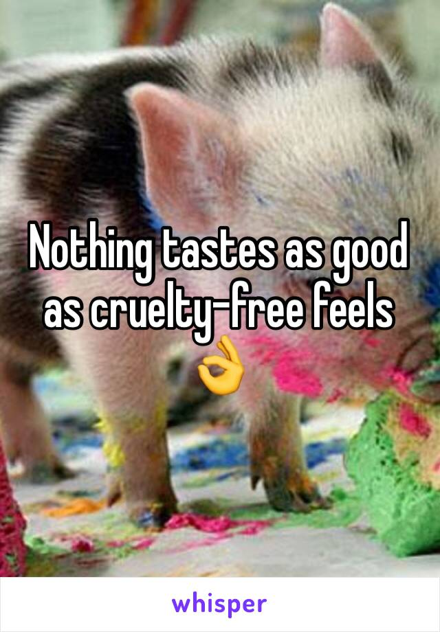 Nothing tastes as good as cruelty-free feels 👌