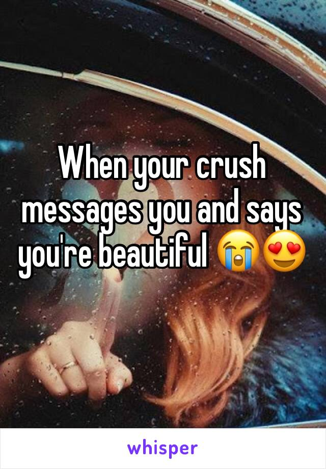 When your crush messages you and says you're beautiful 😭😍