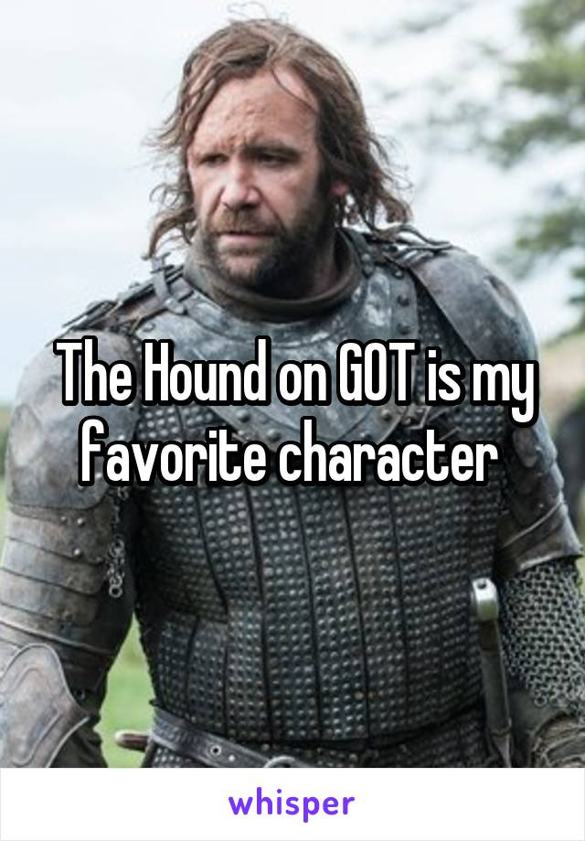 The Hound on GOT is my favorite character