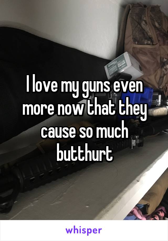 I love my guns even more now that they cause so much butthurt