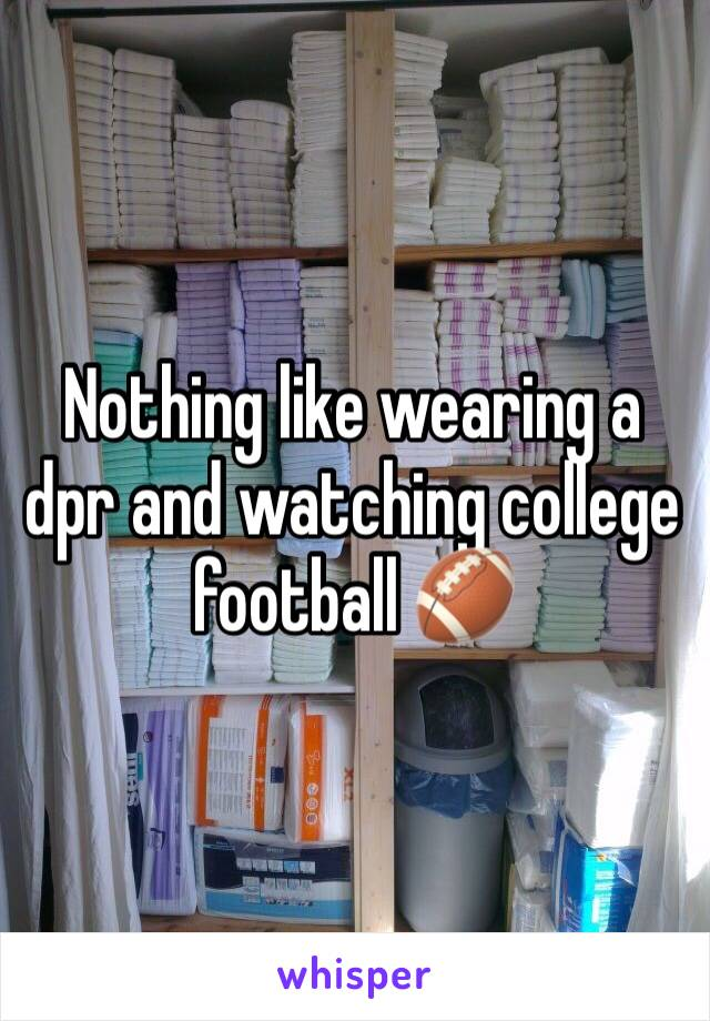Nothing like wearing a dpr and watching college football 🏈
