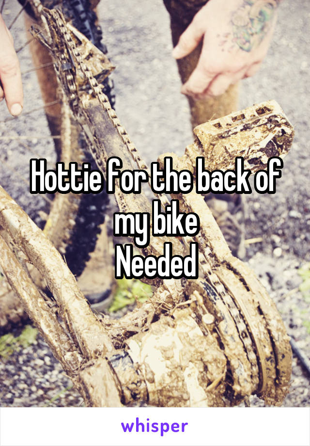 Hottie for the back of my bike Needed