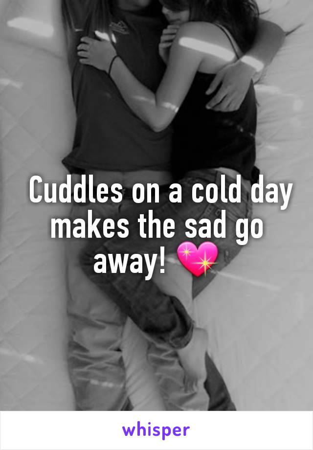 Cuddles on a cold day makes the sad go away! 💖
