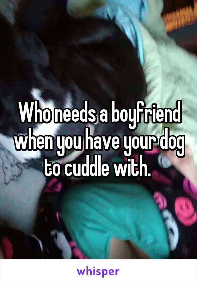 Who needs a boyfriend when you have your dog to cuddle with.