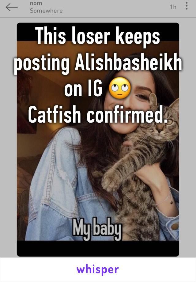 This loser keeps posting Alishbasheikh on IG 🙄  Catfish confirmed.