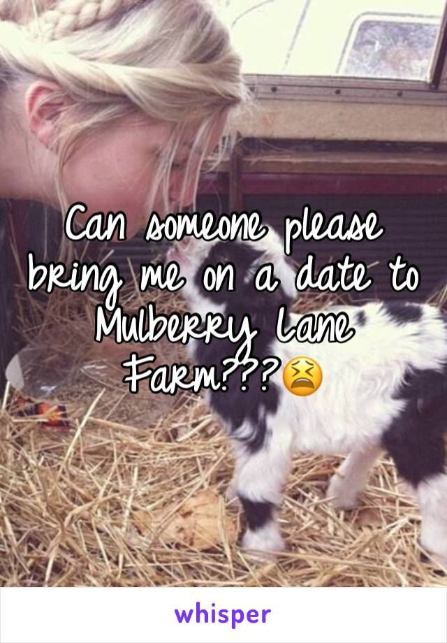 Can someone please bring me on a date to Mulberry Lane Farm???😫