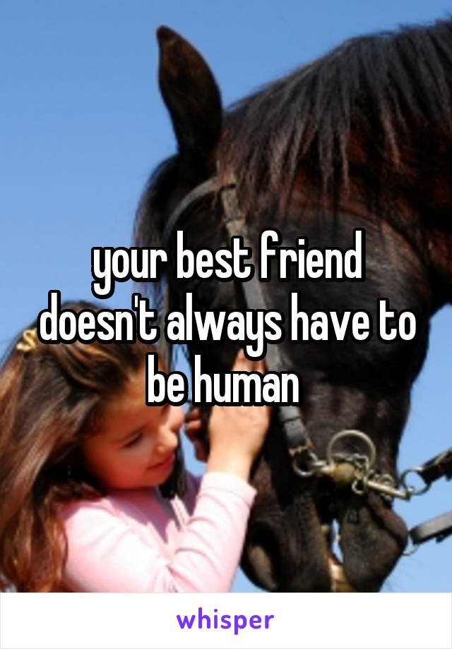 your best friend doesn't always have to be human