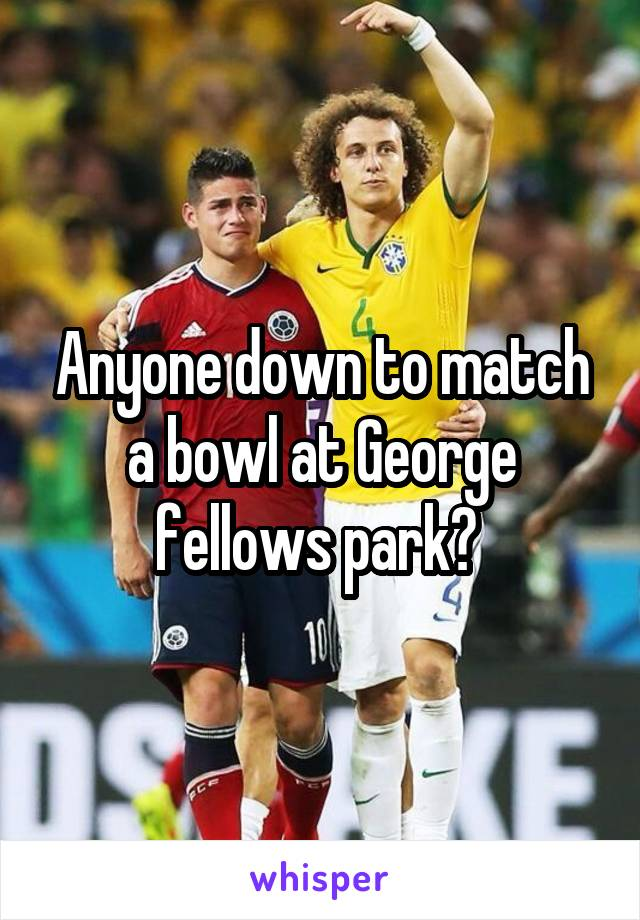 Anyone down to match a bowl at George fellows park?