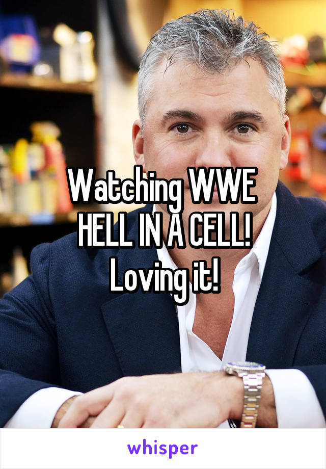 Watching WWE  HELL IN A CELL! Loving it!