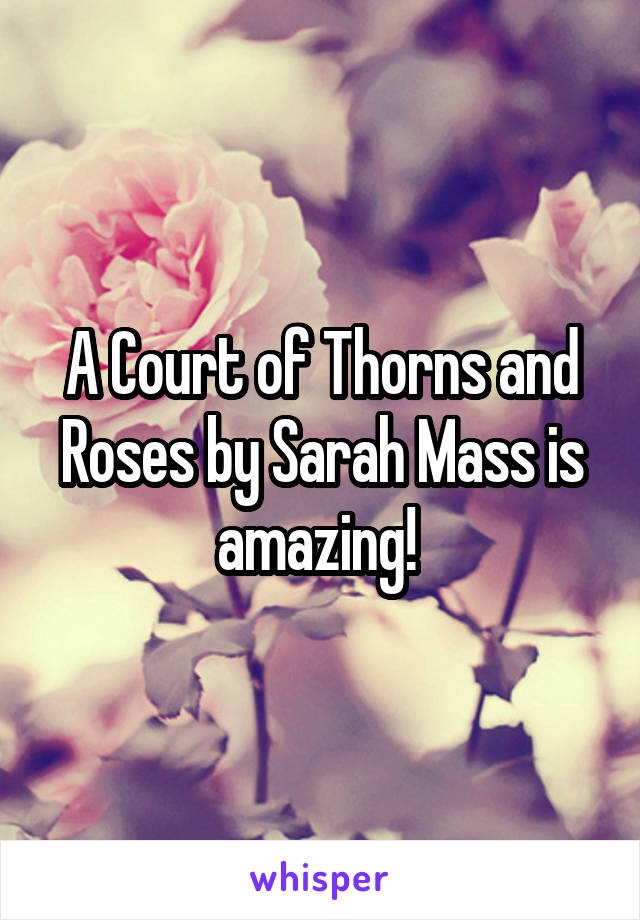 A Court of Thorns and Roses by Sarah Mass is amazing!