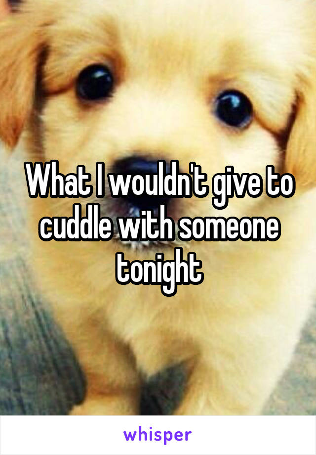 What I wouldn't give to cuddle with someone tonight